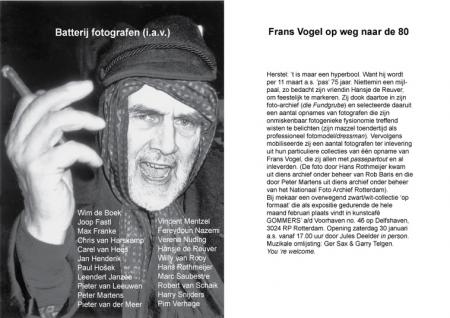 Frans Vogel 75 jaar